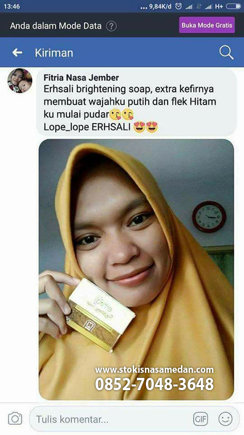 testi erhsali brightening soap